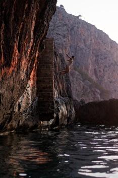 Enjoying some cliff diving
