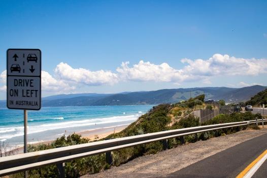 ocean, great road