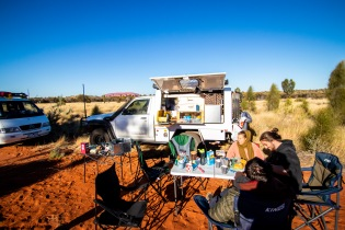 Brekkie with Uluru