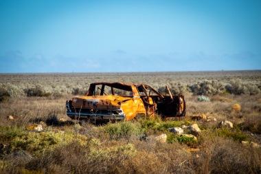 Car wrecks along the Nullarbor